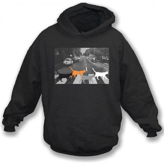 Abbey Road Cats Kids Hooded Sweatshirt