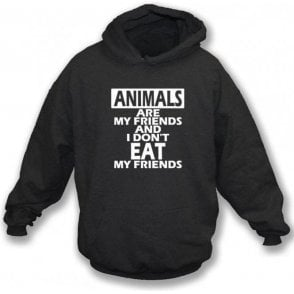 Animals Are My Friends Kids Hooded Sweatshirt