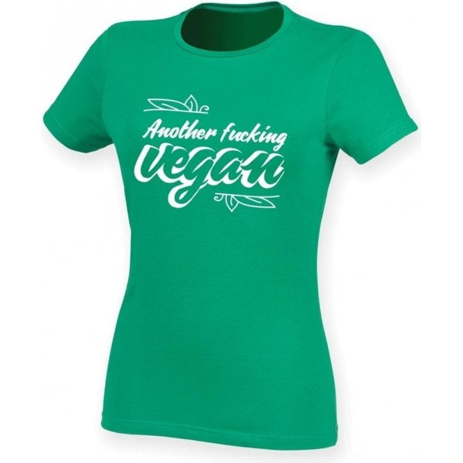 Another F*cking Vegan Womens Slim Fit T-Shirt