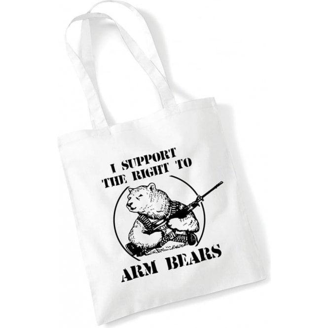 Arm Bears Long Handled Tote Bag