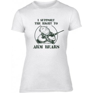 Arm Bears Womens Slim Fit T-Shirt