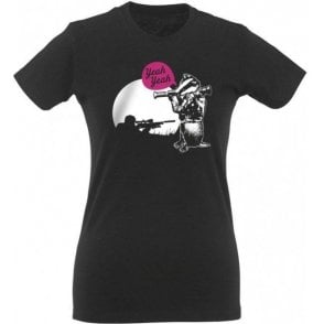 Badger Bazooka Yeah Yeah Womens Slim Fit T-Shirt