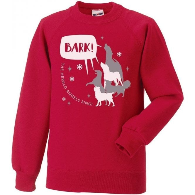 Bark The Herald Angels Sing Kids Christmas Jumper