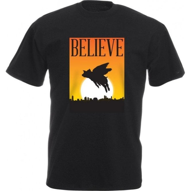 Believe: Flying Pigs Kids T-Shirt