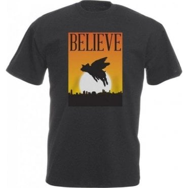 Believe: Flying Pigs Vintage Wash T-Shirt