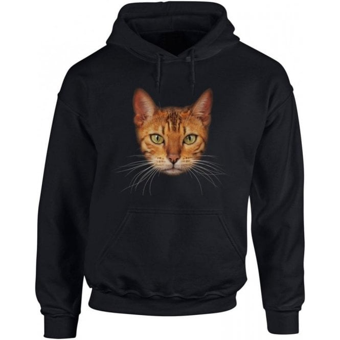 Bengal Cat Face Kids Hooded Sweatshirt