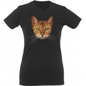 Bengal Cat Face Womens Slim Fit T-Shirt