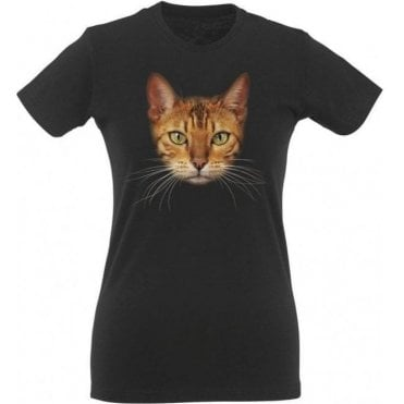 Bengal Cat Face Womens Slim Fit T-Shirt