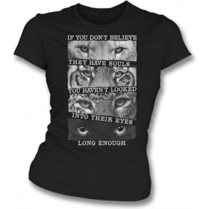 Big Cats Womens Slim Fit T-Shirt
