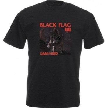 Black Flag Kitty Kids T-Shirt