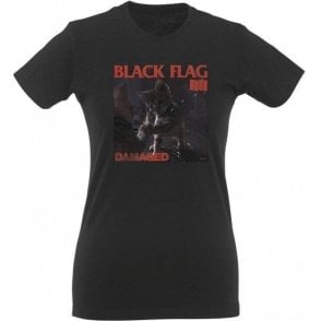 Black Flag Kitty Women's Slim Fit T-Shirt