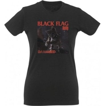 Black Flag Kitty Women's Slim Fit T-Shirt