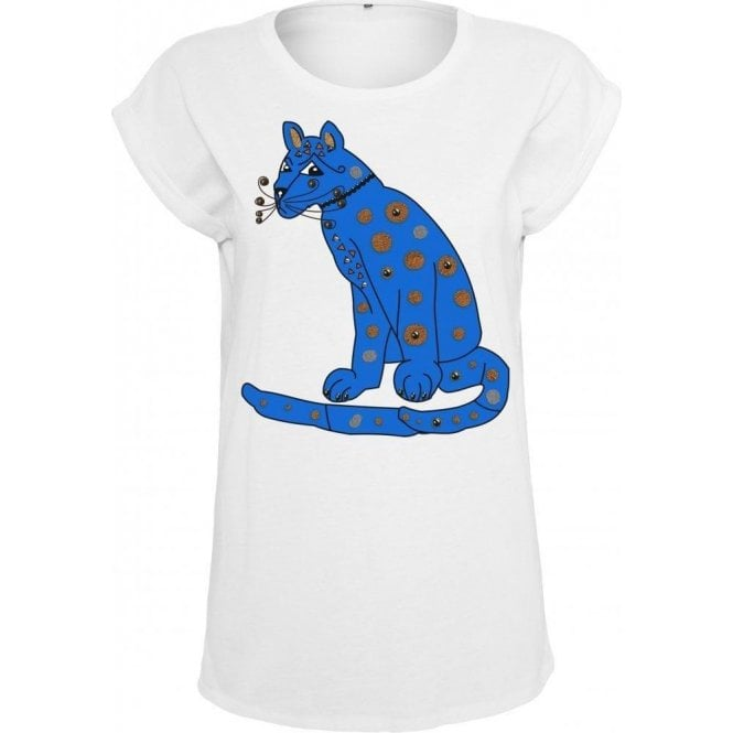 Blue Cat (As Worn By Agnetha Faltskog, ABBA) Womens Extended Shoulder T-Shirt