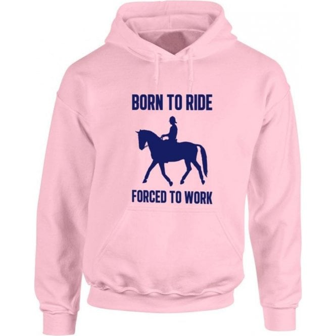 Born To Ride, Forced To Work Kids Hooded Sweatshirt