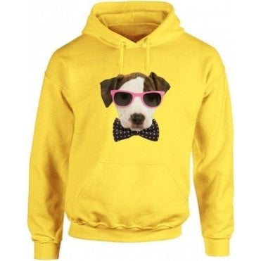 Bow Tie Dog Hooded Sweatshirt