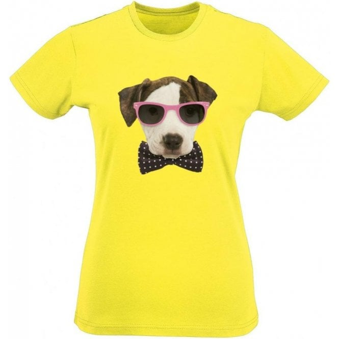 Bow Tie Dog Women's Slim Fit T-Shirt