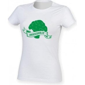 Broccoholic Womens Slim Fit T-Shirt