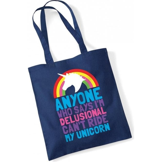 Can't Ride My Unicorn Long Handled Tote Bag