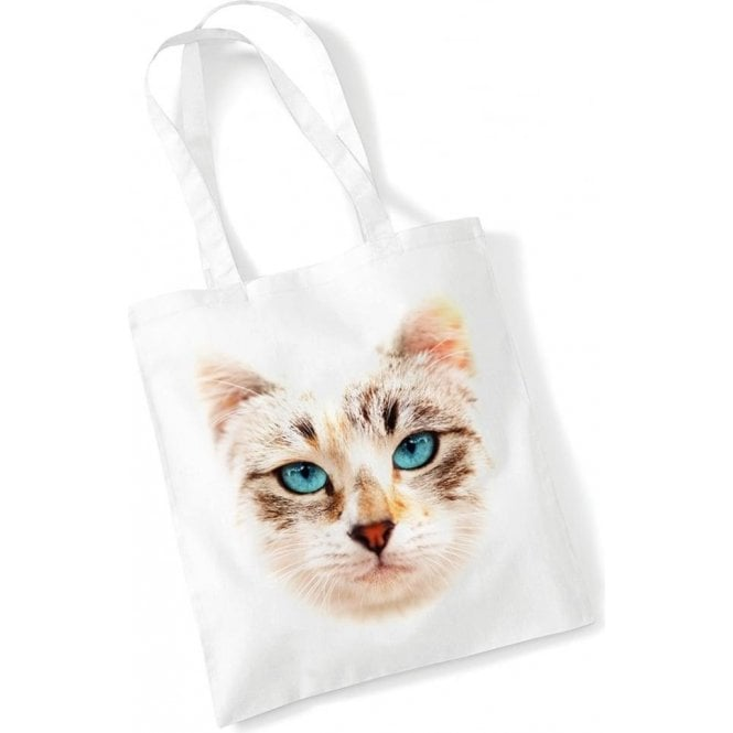 Cat Face Long Handled Tote Bag
