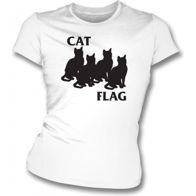 Cat Flag Womens Slim Fit T-Shirt