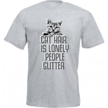 Cat Hair Is Lonely People Glitter Kids T-Shirt