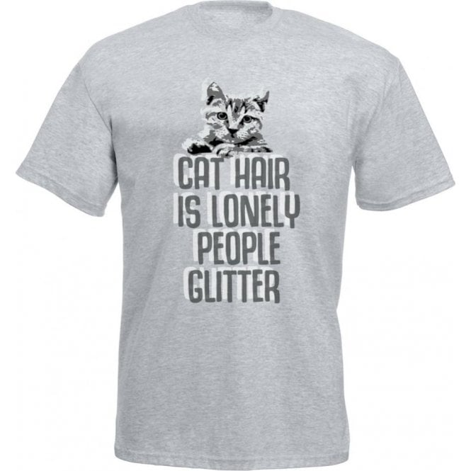Cat Hair Is Lonely People Glitter T Shirt From Animals