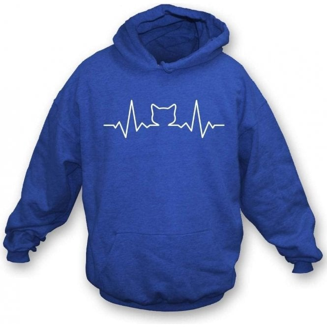 Cat Heartbeat Kids Hooded Sweatshirt