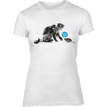 Cat & Mouse Yeah Yeah Women's Slim Fit T-Shirt