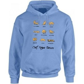 Cat Yoga Kids Hooded Sweatshirt
