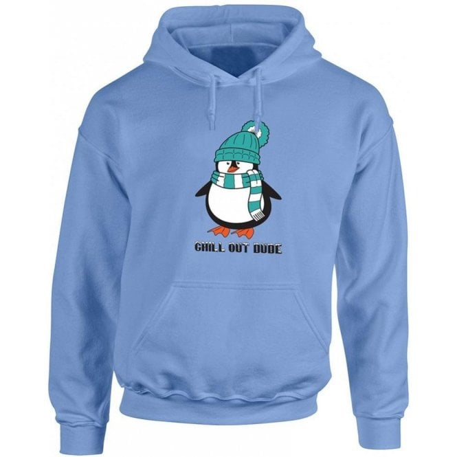 Chill Out Dude (Cartoon) Kids Hooded Sweatshirt