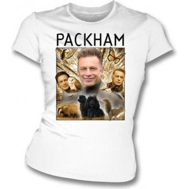 Chris Packham Collage Womens Slim Fit T-Shirt