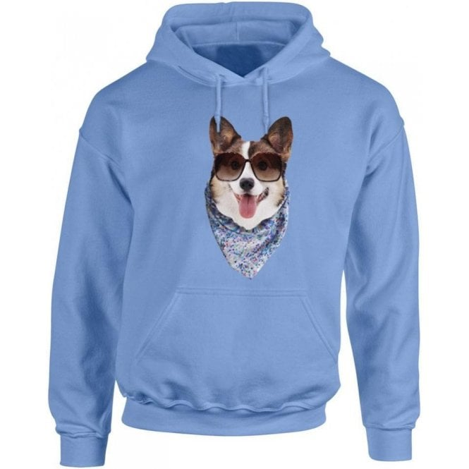 Corgi Face Kids Hooded Sweatshirt