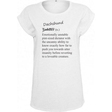 Dachshund Definition Womens Extended Shoulder T-Shirt