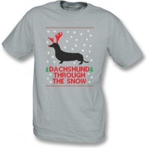 Dachshund Through The Snow Kids T-Shirt