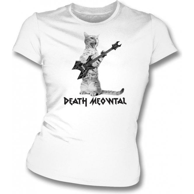 Death Meowtal Women's Slim Fit T-Shirt