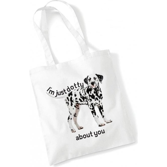Dotty Dalmatian Long Handled Tote Bag