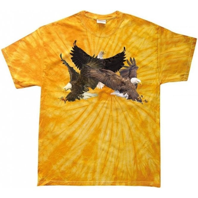 Eagle Collage Tie Dye T-Shirt