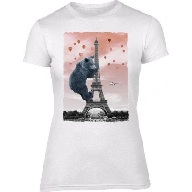 Eiffel Bear Women's Slim Fit T-shirt