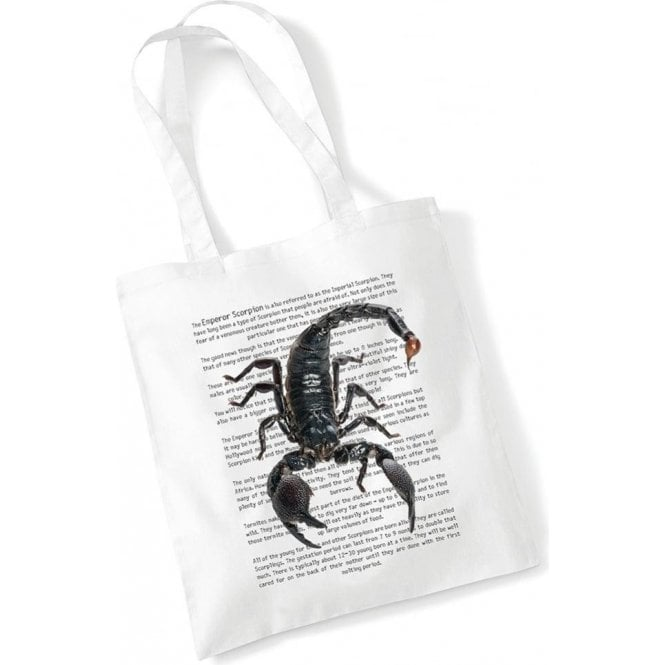 Emperor Scorpion Long Handled Tote Bag