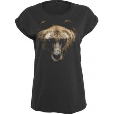 Faded Bear Womens Extended Shoulder T-Shirt
