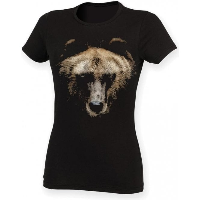 Faded Bear Womens Slim Fit T-Shirt