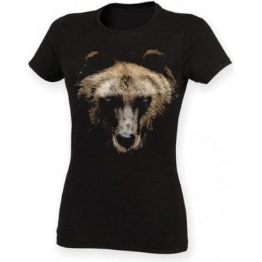 Faded Bear Womens Slim Fit T-Shirt