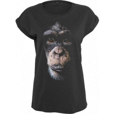 Faded Chimp Womens Extended Shoulder T-Shirt
