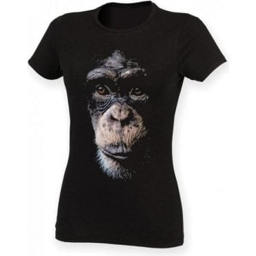 Faded Chimp Womens Slim Fit T-Shirt