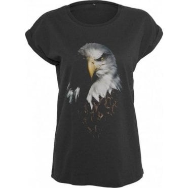 Faded Eagle Womens Extended Shoulder T-Shirt