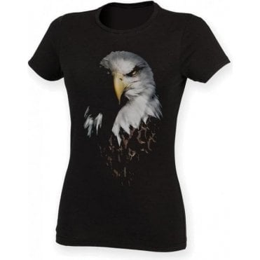 Faded Eagle Womens Slim Fit T-Shirt