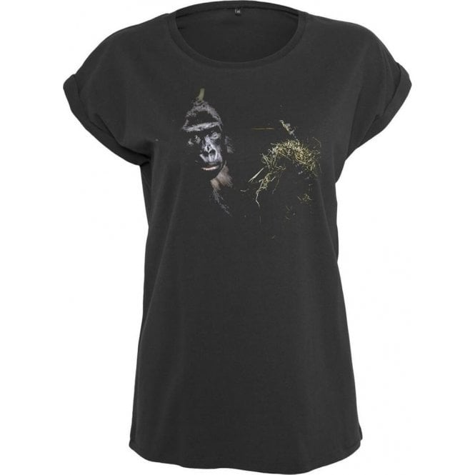 Faded Eating Ape Womens Extended Shoulder T-Shirt