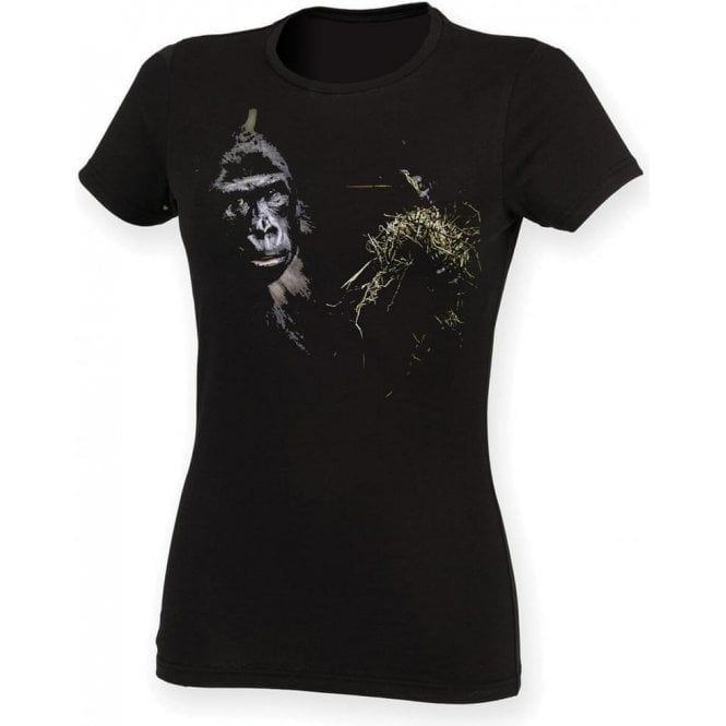 Faded Eating Ape Womens Slim Fit T-Shirt