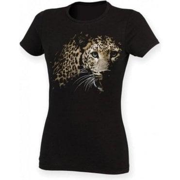 Faded Leopard Womens Slim Fit T-Shirt