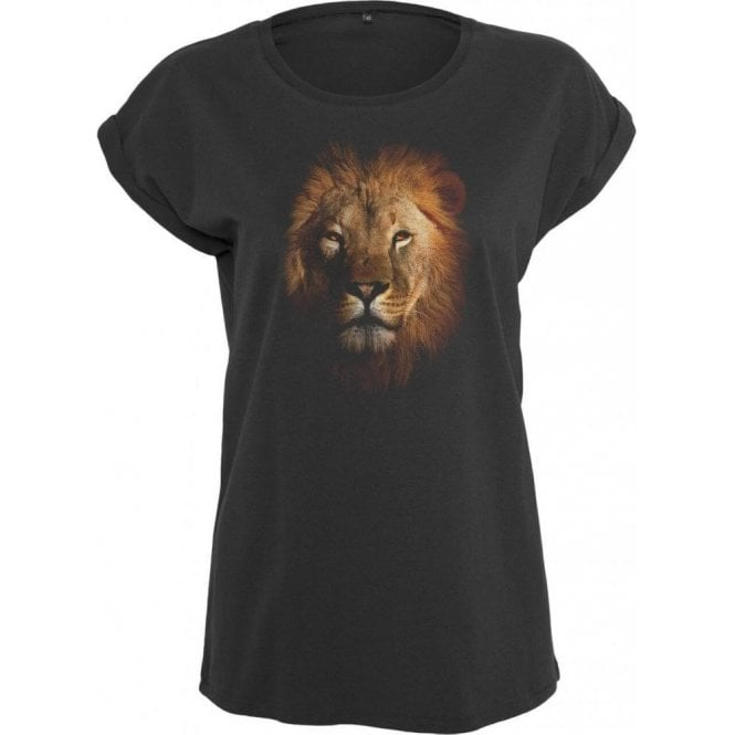 Faded Lion Womens Extended Shoulder T-Shirt